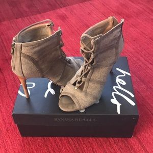 Banana Republic Laced Ankle Boots
